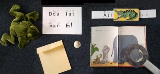 """Lesen lernen mit Bilderbüchern, : Verschiedenste Materialien zum Bilderbuch """"Van Zeveren, M. (2011): Das ist mein Ei, Beltz&Gelberg, Weinheim."""""""