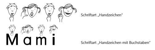 schriftartenHandzeichen